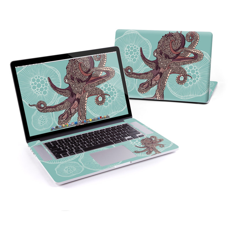 MacBook Pro Pre 2016 Retina 15-inch Skin design of Illustration, Art, Elephants and Mammoths, Pattern, Graphic design with gray, black, red, green colors