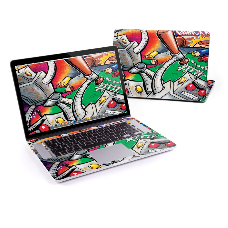 Robot Beatdown MacBook Pro Retina 15-inch Skin