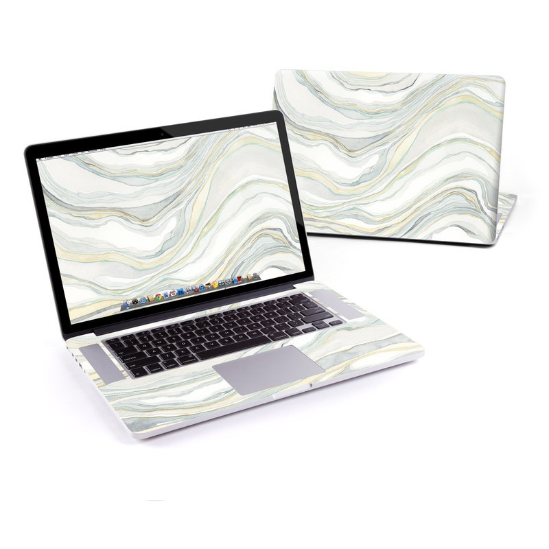 MacBook Pro Pre 2016 Retina 15-inch Skin design of Line, Pattern with yellow, white, blue, gray colors