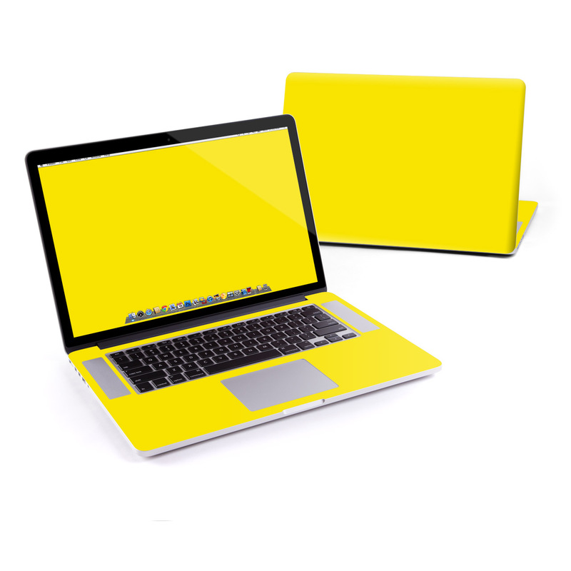 Solid State Yellow MacBook Pro Pre 2016 Retina 15-inch Skin