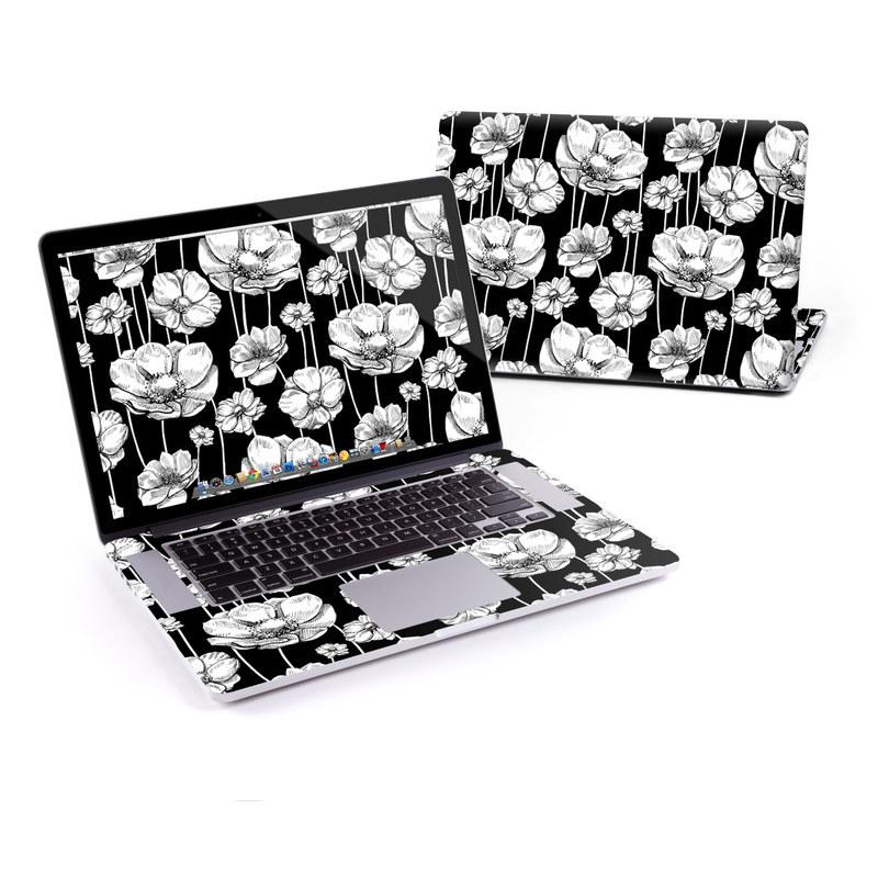 Striped Blooms MacBook Pro Retina 15-inch Skin