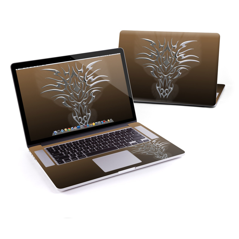 Tribal Dragon Chrome MacBook Pro Retina 15-inch Skin