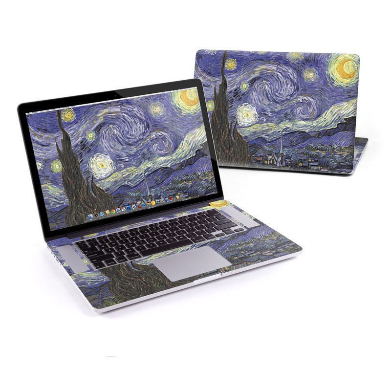 MacBook Pro Pre 2016 Retina 15-inch Skin design of Painting, Purple, Art, Tree, Illustration, Organism, Watercolor paint, Space, Modern art, Plant with gray, black, blue, green colors