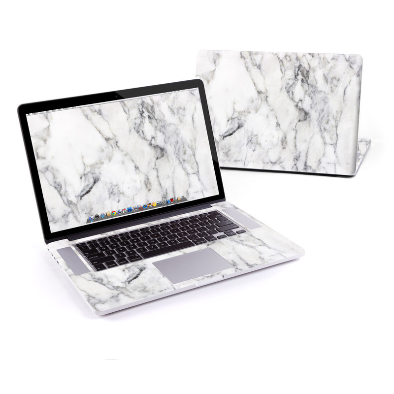 White Marble MacBook Pro Retina 15-inch Skin