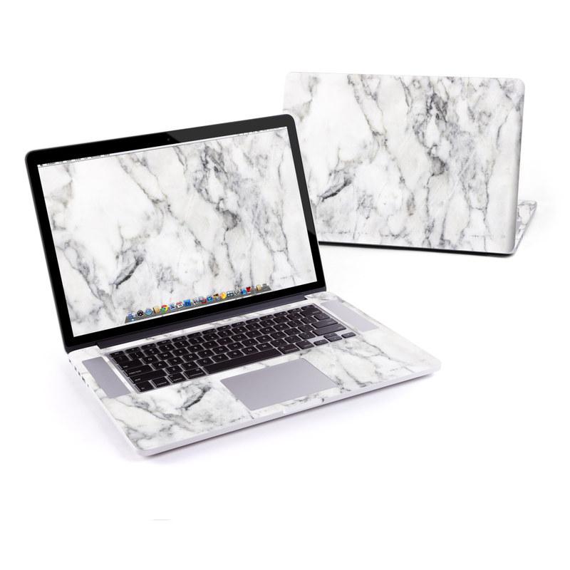 White Marble MacBook Pro Pre 2016 Retina 15-inch Skin