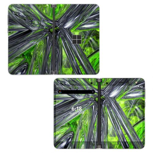 Emerald Abstract Microsoft Surface Duo Skin