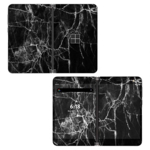 Black Marble Microsoft Surface Duo Skin
