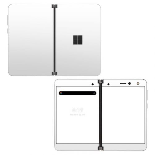 Solid State White Microsoft Surface Duo Skin