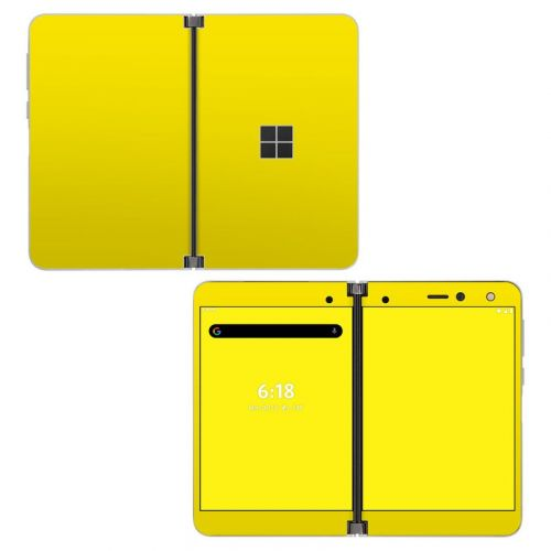 Solid State Yellow Microsoft Surface Duo Skin