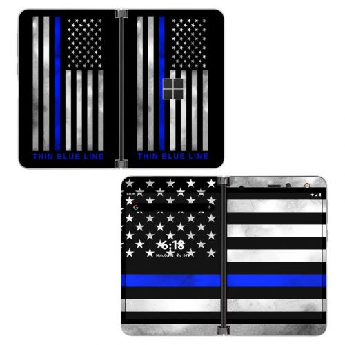 Thin Blue Line Microsoft Surface Duo Skin