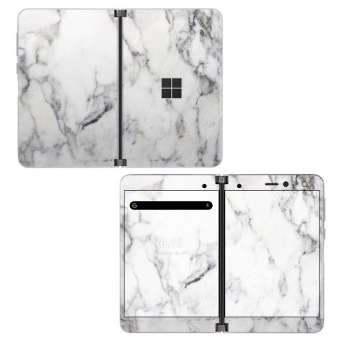 White Marble Microsoft Surface Duo Skin