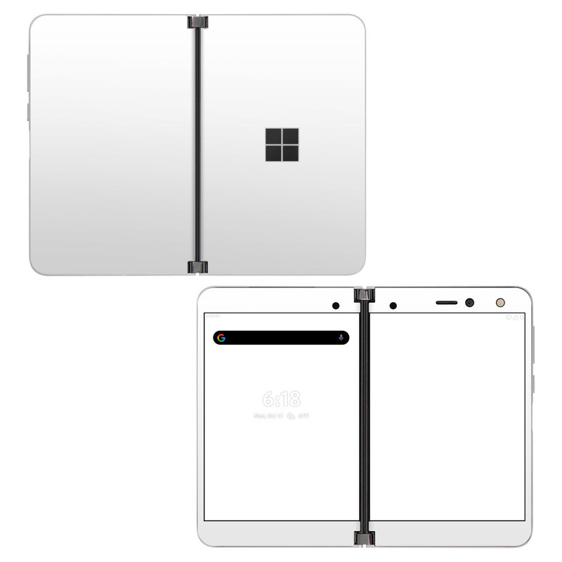 Microsoft Surface Duo Skin design of White, Black, Line with white colors