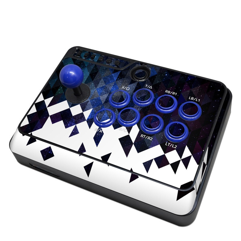 Mayflash Arcade Fightstick F300 Skin design of Text, Pattern, Graphic design, Font, Purple, Design, Line, Triangle, Logo, Graphics with black, blue, white colors
