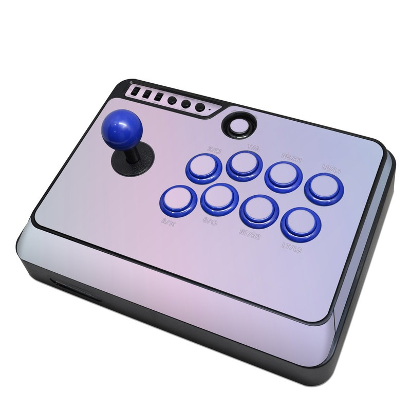 Mayflash Arcade Flightstick F300 Skin design of White, Blue, Daytime, Sky, Atmospheric phenomenon, Atmosphere, Calm, Line, Haze, Fog with pink, purple, blue colors