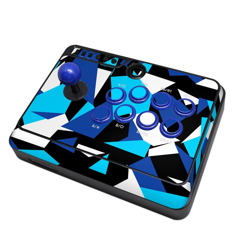 Mayflash Arcade Fightstick F300 Skin design of Blue, Pattern, Turquoise, Cobalt blue, Teal, Design, Electric blue, Graphic design, Triangle, Font with blue, white, black colors