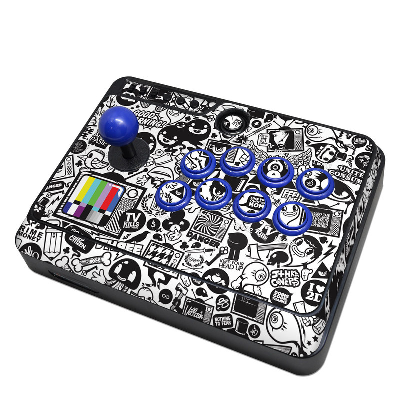 Mayflash Arcade Fightstick F300 Skin design of Pattern, Drawing, Doodle, Design, Visual arts, Font, Black-and-white, Monochrome, Illustration, Art with gray, black, white colors