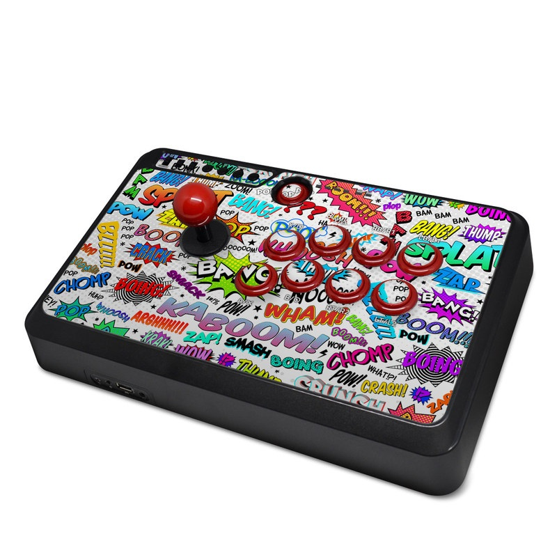 Mayflash Arcade Flightstick F500 Skin design of Text, Font, Line, Graphics, Art, Graphic design with gray, white, red, blue, black colors