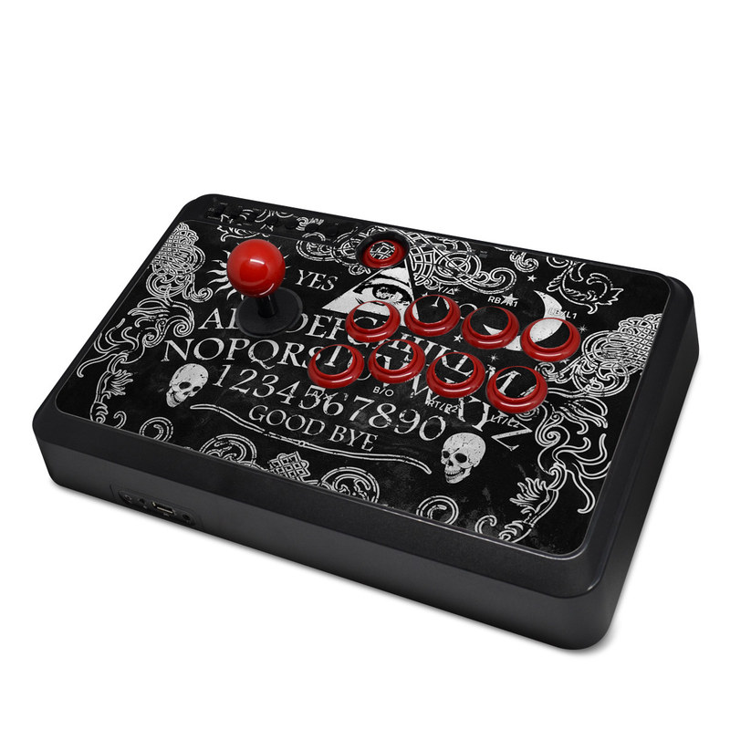 Mayflash Arcade Flightstick F500 Skin design of Text, Font, Pattern, Design, Illustration, Headpiece, Tiara, Black-and-white, Calligraphy, Hair accessory with black, white, gray colors