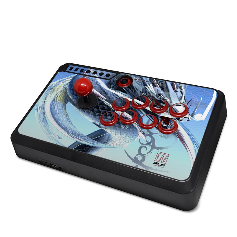 Mayflash Arcade Flightstick F500 Skin design of Illustration, Graphic design, Fictional character with purple, gray, blue, black colors