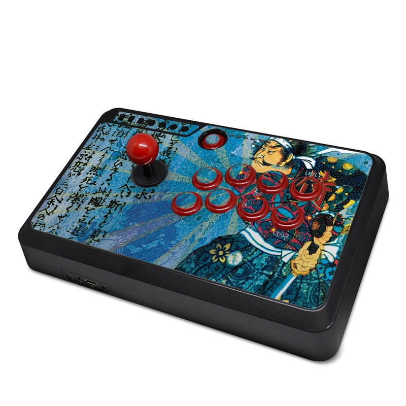 Mayflash Arcade Fightstick F500 Skin design of Art, Illustration, Painting with blue, black, gray, green, red colors
