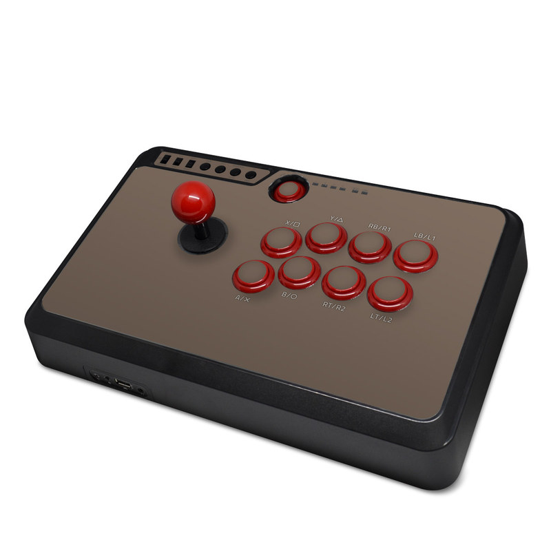 Mayflash Arcade Flightstick F500 Skin design of Brown, Text, Beige, Material property, Font with brown colors