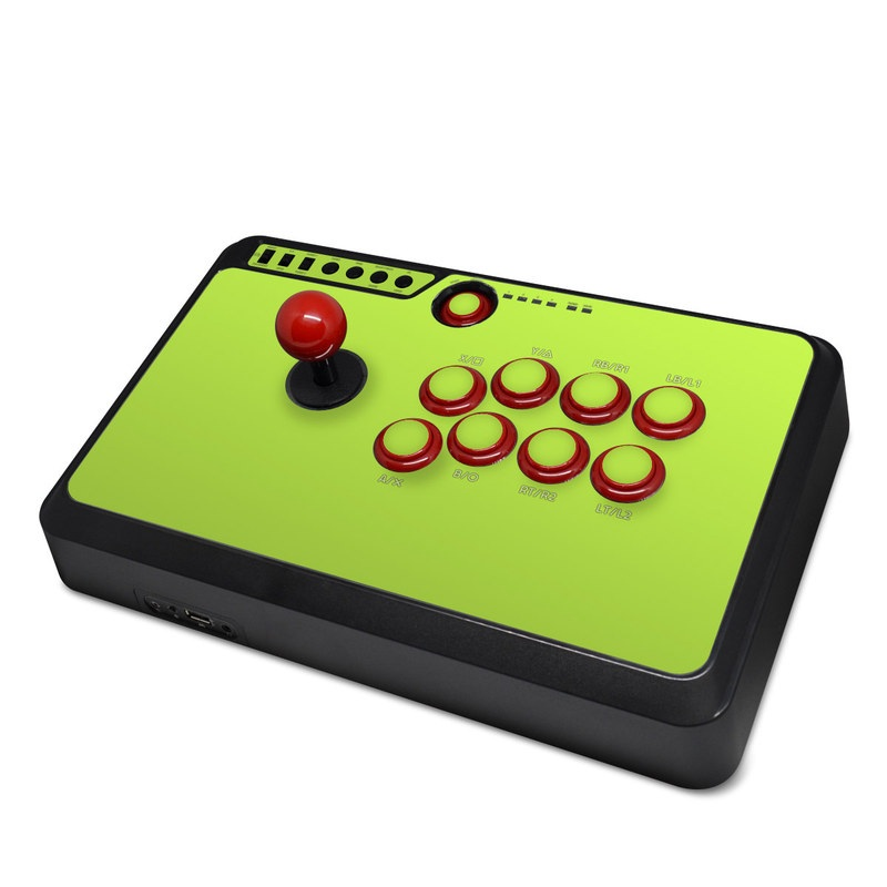 Mayflash Arcade Flightstick F500 Skin design of Green, Yellow, Text, Leaf, Font, Grass with green colors