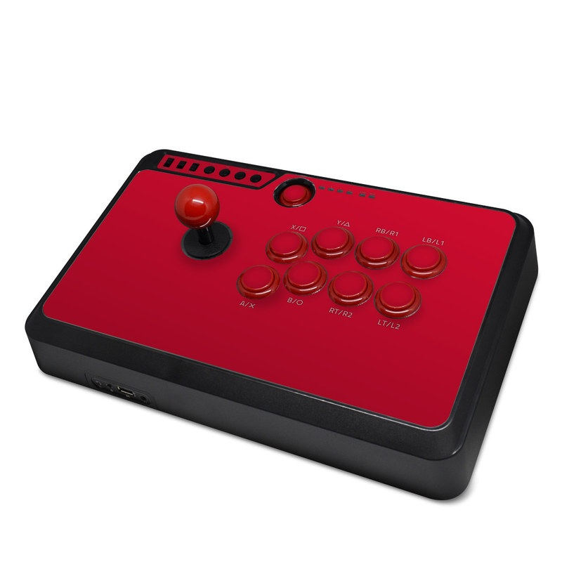 Mayflash Arcade Fightstick F500 Skin design of Red, Pink, Maroon, Purple, Orange, Violet, Magenta, Material property, Font, Peach with red colors