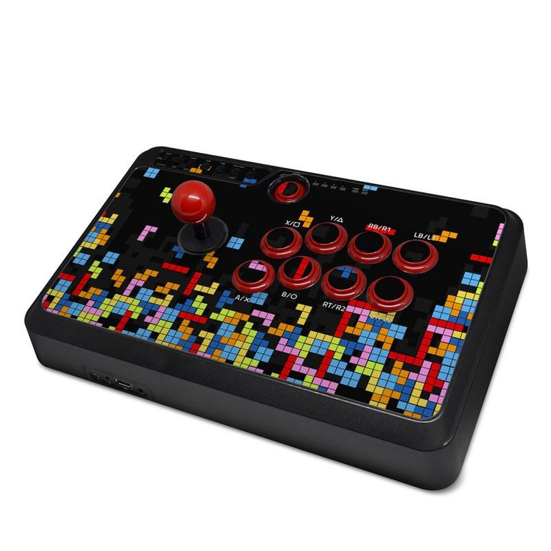 Mayflash Arcade Flightstick F500 Skin design of Pattern, Symmetry, Font, Design, Graphic design, Line, Colorfulness, Magenta, Square, Graphics with black, green, blue, orange, red colors