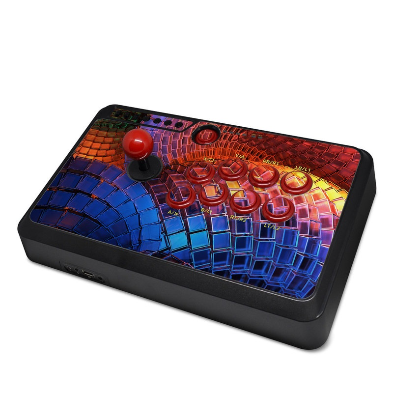 Mayflash Arcade Flightstick F500 Skin design of Blue, Red, Orange, Light, Pattern, Architecture, Design, Fractal art, Colorfulness, Psychedelic art with black, red, blue, purple, gray colors