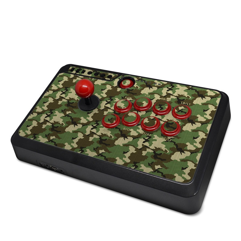 Mayflash Arcade Flightstick F500 Skin design of Military camouflage, Camouflage, Clothing, Pattern, Green, Uniform, Military uniform, Design, Sportswear, Plane with black, gray, green colors