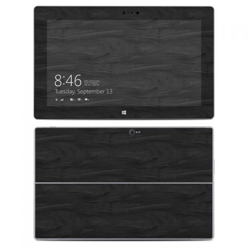 Black Woodgrain Microsoft Surface 2 Skin