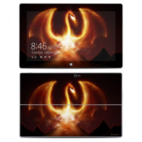 Fire Dragon Microsoft Surface 2 Skin