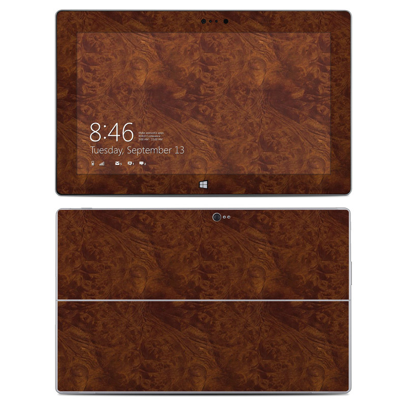 Microsoft Surface 2 RT Skin design of Brown, Wood, Wood flooring, Caramel color, Pattern, Hardwood, Wood stain, Flooring, Floor, Plywood with brown colors