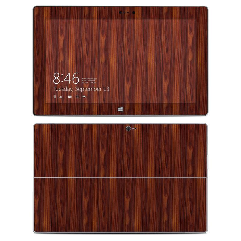 Dark Rosewood Microsoft Surface 2 Skin