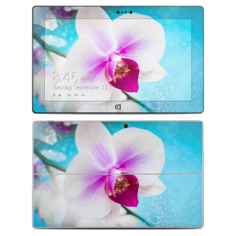 Microsoft Surface 2 RT Skin design of Flowering plant, Petal, Flower, Pink, moth orchid, Plant, Purple, Violet, Orchid, Moth Orchid with gray, blue, purple, red colors