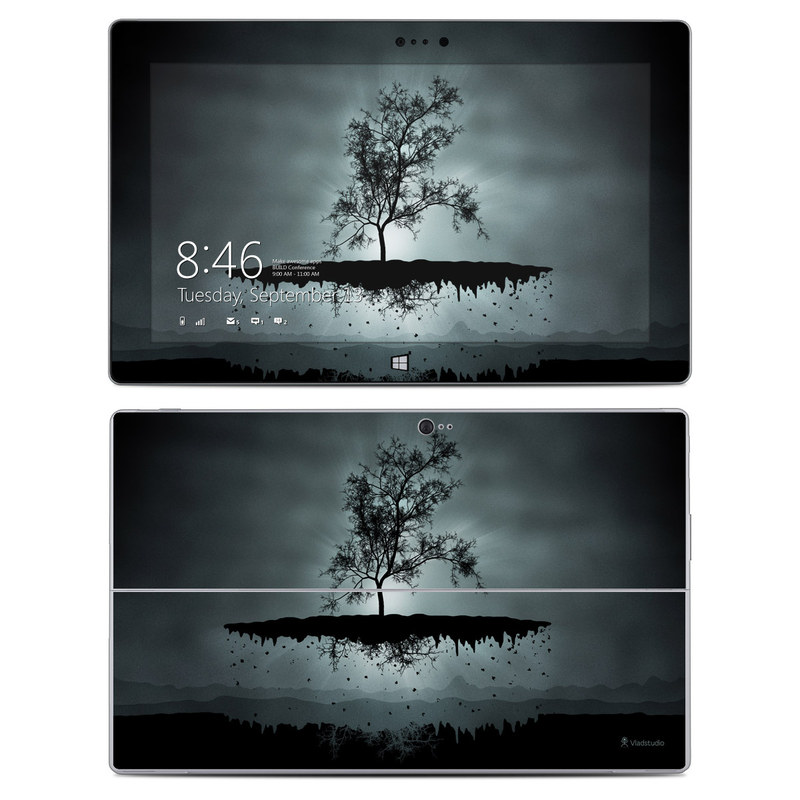 Flying Tree Black Microsoft Surface 2 Skin