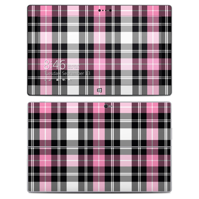 Pink Plaid Microsoft Surface 2 Skin Istyles