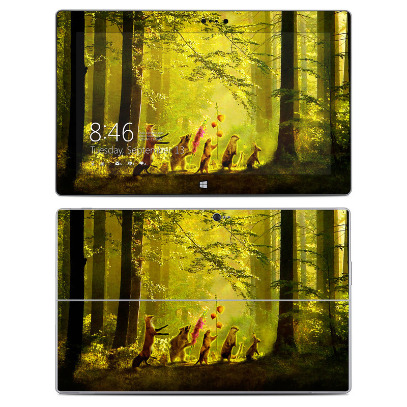 Microsoft Surface 2 RT Skin design of Nature, Natural environment, Light, Forest, Natural landscape, Yellow, Biome, Sunlight, Woodland, Tree with black, green, red colors