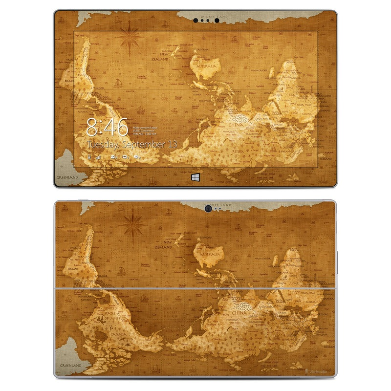Upside Down Map Microsoft Surface 2 Skin