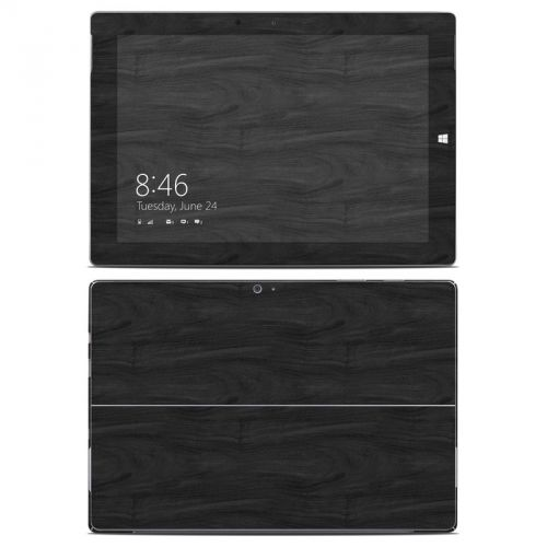 Black Woodgrain Microsoft Surface 3 Skin