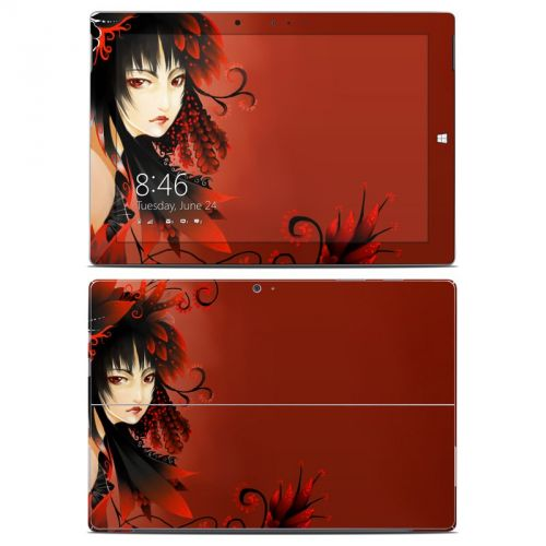 Black Flower Microsoft Surface 3 Skin