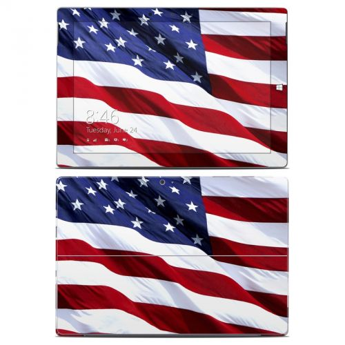 Patriotic Microsoft Surface 3 Skin