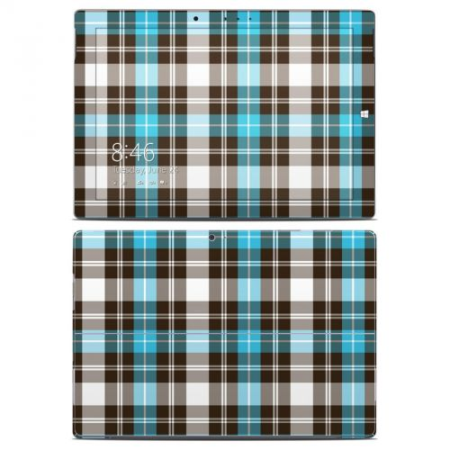 Turquoise Plaid Microsoft Surface 3 Skin