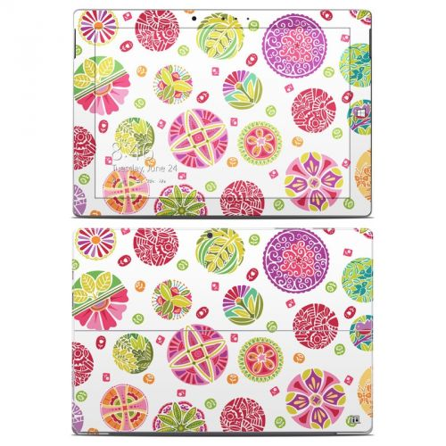 Round Flowers Microsoft Surface 3 Skin