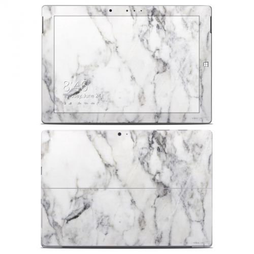 White Marble Microsoft Surface 3 Skin