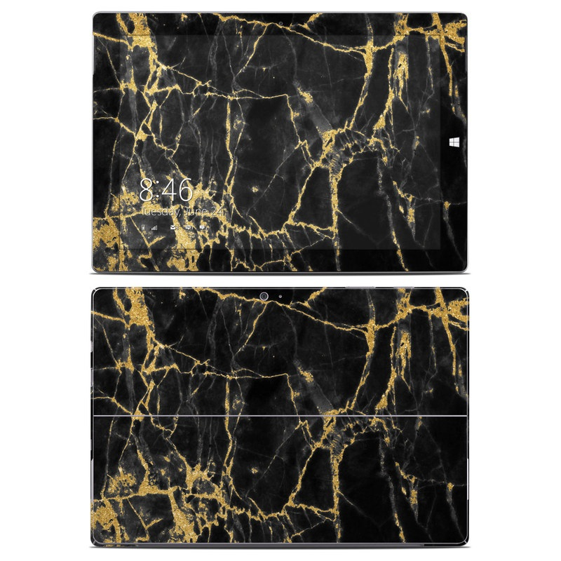 Black Gold Marble Microsoft Surface 3 Skin