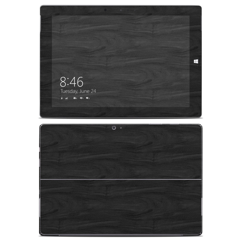 Microsoft Surface 3 Skin design of Black, Brown, Wood, Grey, Flooring, Floor, Laminate flooring, Wood flooring with black colors