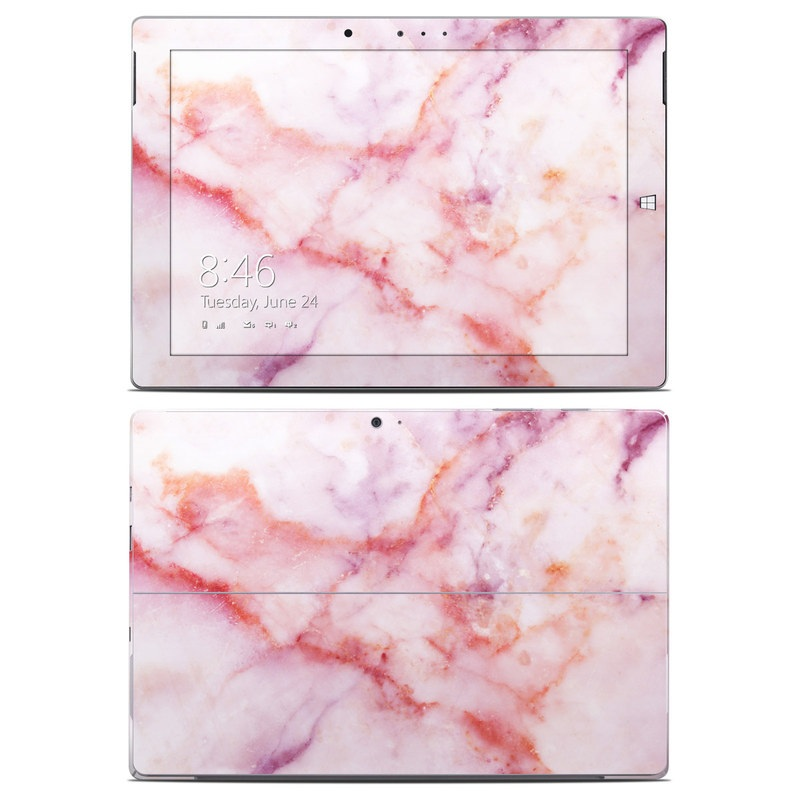 Microsoft Surface 3 Skin design of Pink, Skin, Flesh, Textile, Fur with pink, red, white, purple, orange colors