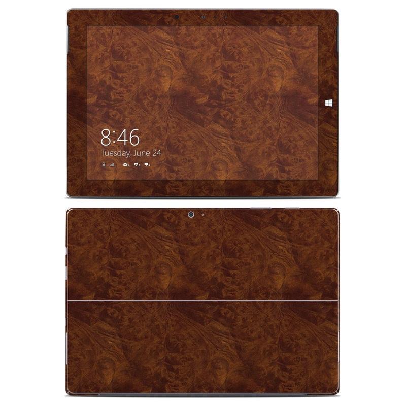 Dark Burlwood Microsoft Surface 3 Skin