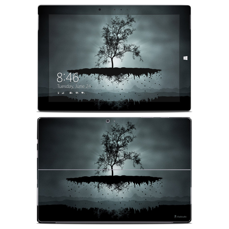 Flying Tree Black Microsoft Surface 3 Skin